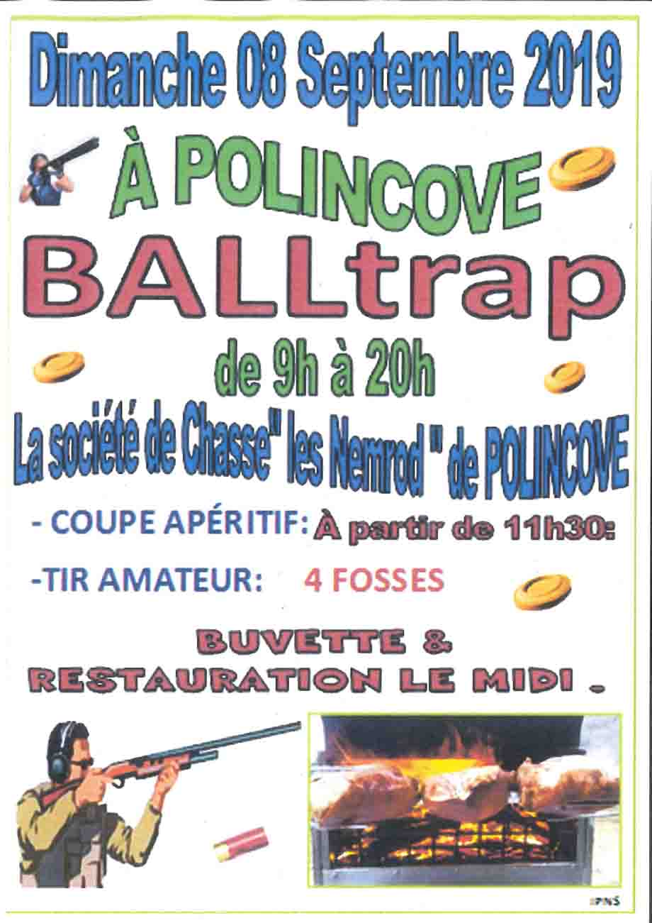 Affiche ball trap polincove