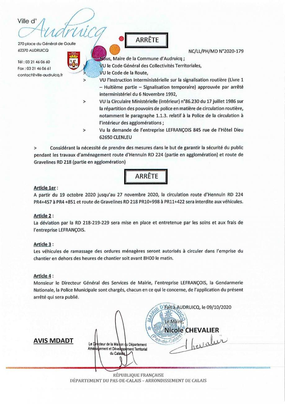 Arrete 2020 179 lefrancois rd 224 218