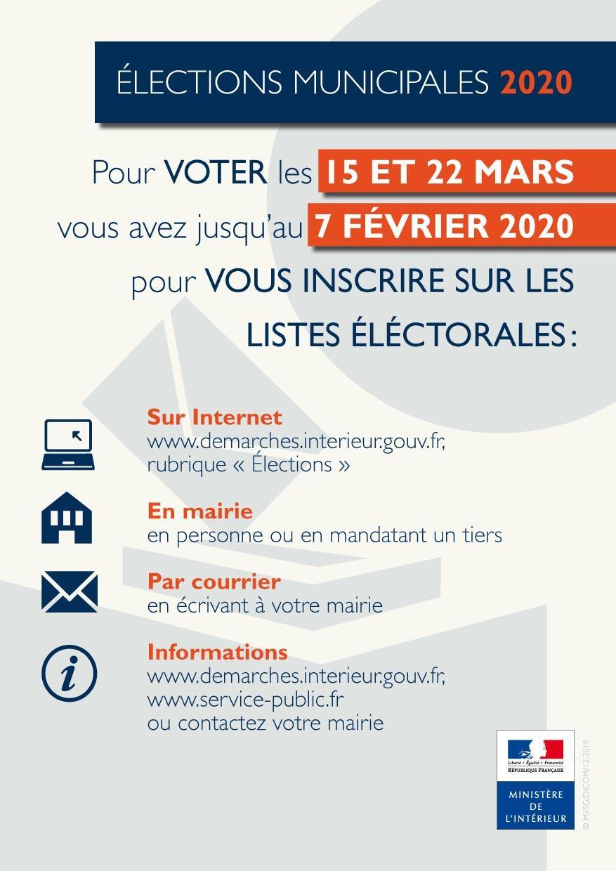 Impression inscription listes electorales