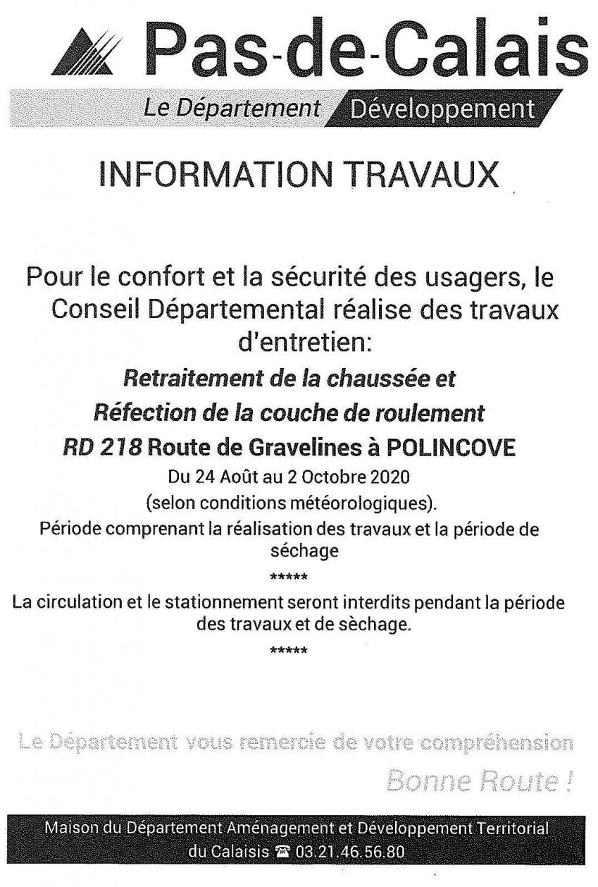 Travaux departement